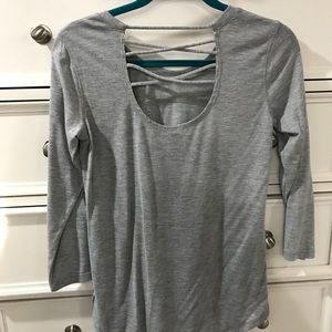 Tops - RNX grey shirt with cross cross back